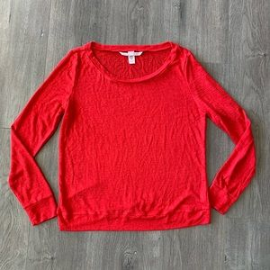 Victoria's Secret Red Long Sleeve Top Shirt XS. V